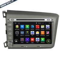 1024*600 Quad Core 16G 8'' Pure Android 5.1.1 Car DVD GPS Audio Player for Honda Civic 2012 with Free Map Brand new