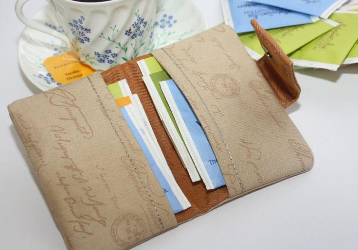 Theezakje portemonnee , reizen thee portemonnee , thee organisator , theezakje portemonnee / theezakje houder - gift voor vrouwen door TASAMA op Etsy
