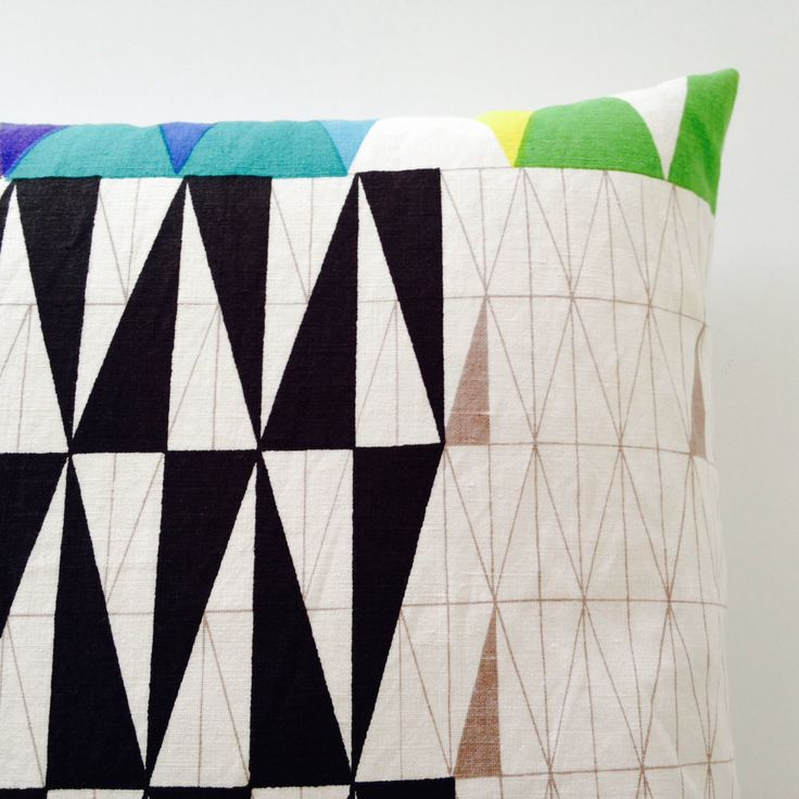 Original Rare Pythagoras 50s Fabric Cushion cover by Sven Markelius  - Mid Century Modern Collectible by Janefoster on Etsy https://www.etsy.com/listing/252622666/original-rare-pythagoras-50s-fabric