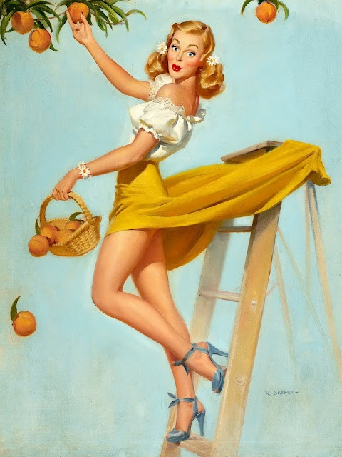 Clasic Pin Up Girls by Robert Oliver Skemp: Robert Olives, Vintage Pin, Cartoon Girls, Pinupgirl, Pinup Girls, Gil Elvgren, Olives Skemp, Georgia Peaches, Pin Up Girls