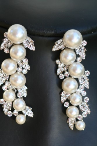 Dripping pearls Swarovski crystal and pearl earrings