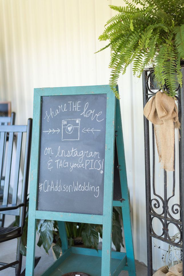 How adorable are these chalkboard signs?
