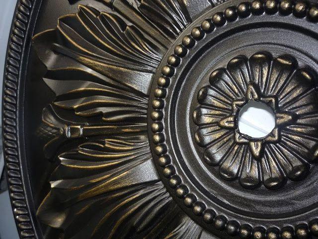 Remodelaholic | Ceiling Medallion as Art