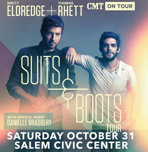 Brett Eldredge & Thomas Rhett | Suits & Boots Tour | Salem Civic Center | Saturday, October 31, 2015