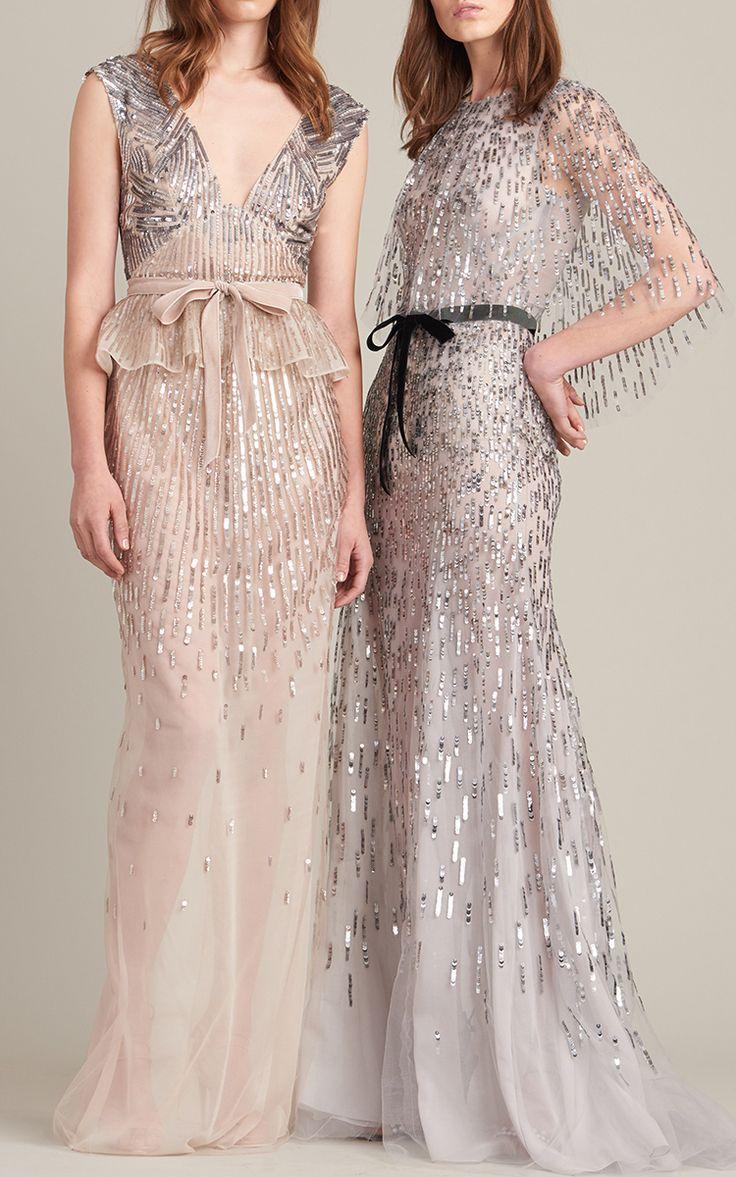 Embellished Peplum Gown by Monique Lhuillier | Moda Operandi