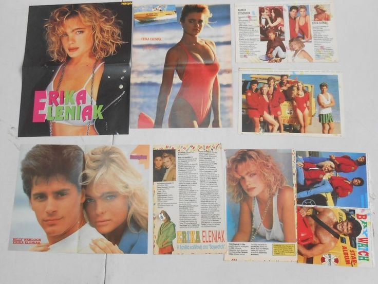 ERIKA ELENIAK - BAYWATCH ,   POSTERS AND CLIPPINGS  TAKEN FROM  GREEK MAGAZINES