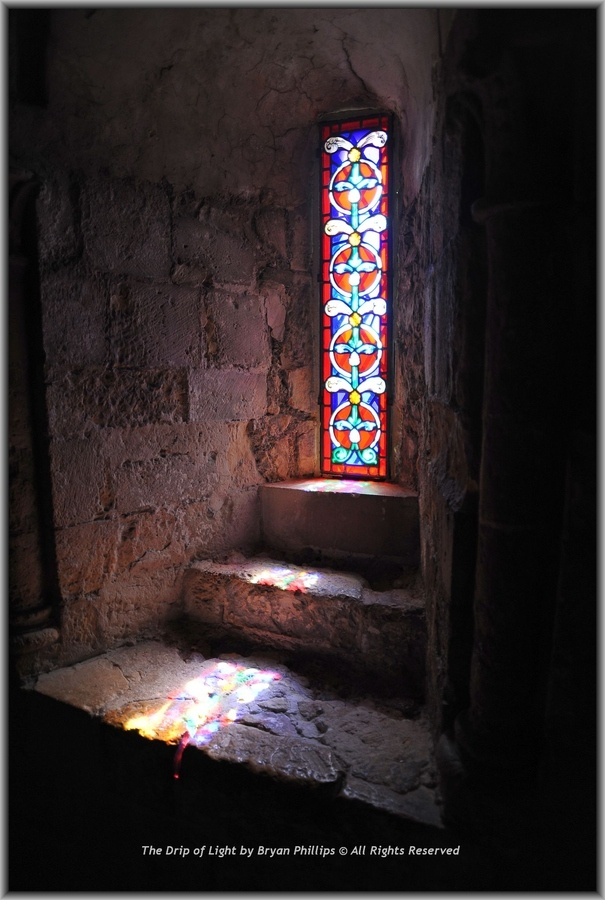 Light from the window - Dover Castle - I sat in front of this window and reared up a bit. England was a dream come true.