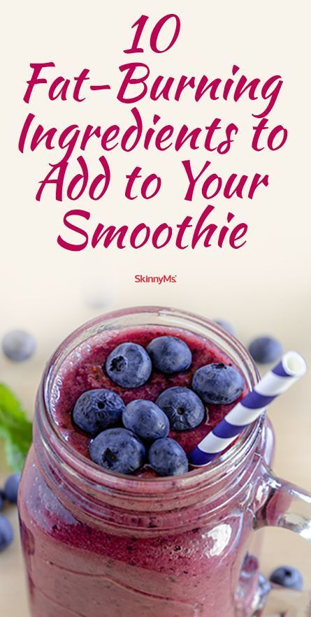 10 Fat-Burning Ingredients to Add to Your Smoothie