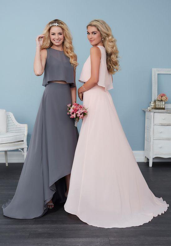 Two piece bridesmaid dresses | Christina Wu Celebration 22760 |  http://trib.al/M0dM3yV