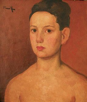 Portrait of child (Catrina) , Oil / canvas