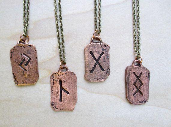 Viking Rune Copper Norse Rune Scandinavian Rune by Banba on Etsy