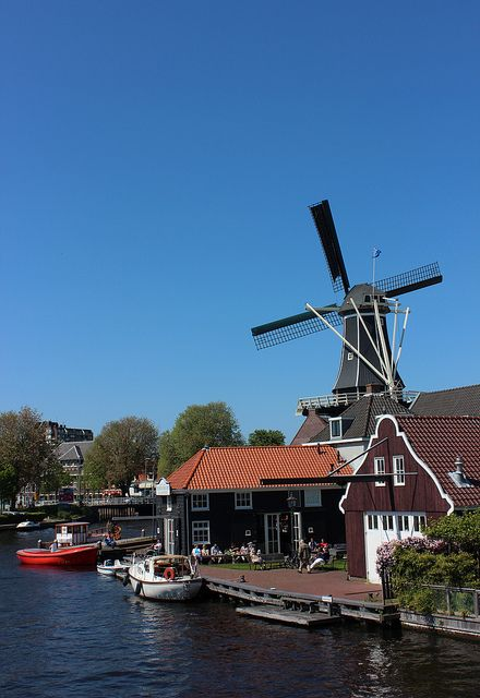 Dutch windmill, Haarlem, Netherlands.  A different kind of Harlem.