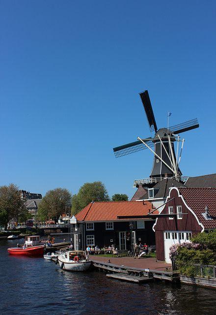 Dutch windmill, Haarlem, Netherlands.  A different kind of Harlem.