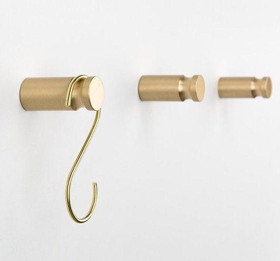 Brass Hook Decorative Wall Hooks Coat Hook Hangers Bag Hooks Hat Hangers Curtain Tie Back Hooks Decor Solid H Brass Wall Hook Curtain Tie Back Hooks Wall Hooks
