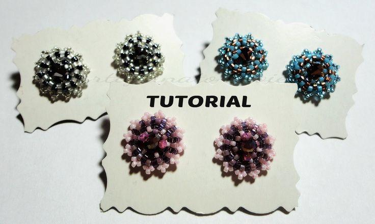 "DIY Video Tutorial Orecchini ""Punto Luce"" perline swarovski (beadwork)"