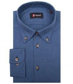 Prezzi e Sconti: #Camicia leonardo flanella blu chiaro Puro cotone  ad Euro 79.90 in #7camicie #Camicie uomo