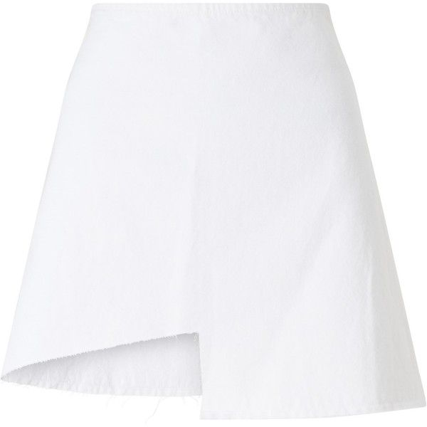 Waven Ina Cut Away Skirt, White found on Polyvore featuring skirts, patterned skirts, floral print a-line skirt, high-waist skirt, high-waisted skirts and a line patterned skirt