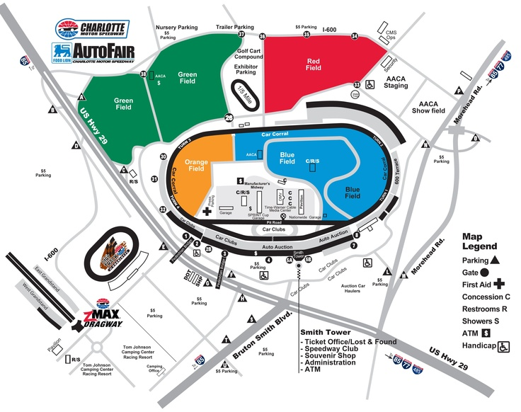 Food Lion Autofair Map At Charlotte Motor Speedway Lawn