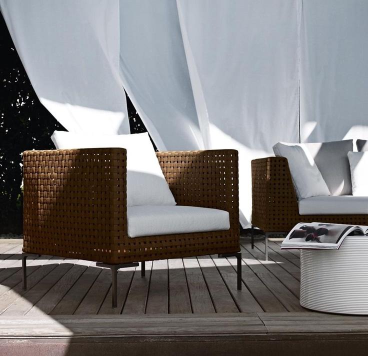 fauteuil de jardin contemporain par Antonio Citterio CHARLES OUTDOOR B Italia