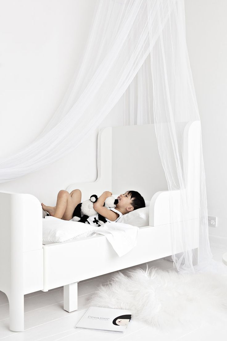 Bed Linens, Vintage Panda, Vintage White Bear from The White Company | Tibetan Sheepskin Rug from Milabert | Busunge Bed from Ikea