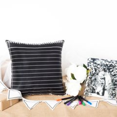 """""""Scribble It"""" Chalk Diary Page Box Set Cushion Cover in Black   Paper Products Online"""