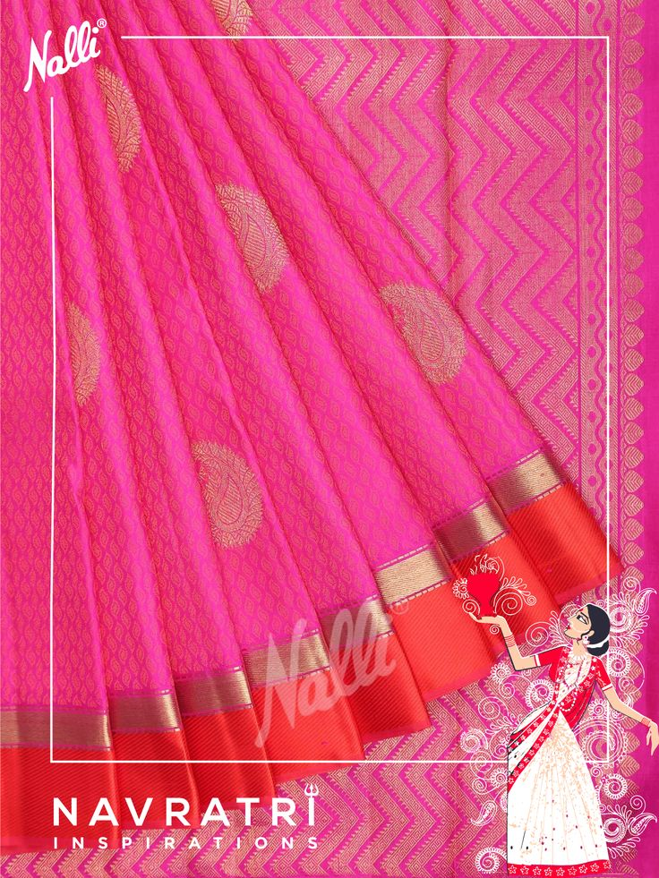 Celebrate Day 8 of NAVRAATRI with the silk and Pink hues of your choice!  Starting from Pink, Pastel pink, China pink, Tango pink, Brick pink, Rose pink, Flamingo pink, Cherry Blossom, Orchid pink and many more!