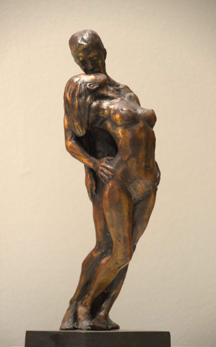 Jody Pawley - Lovers sculpture.  Bronze.  Edition of 25.