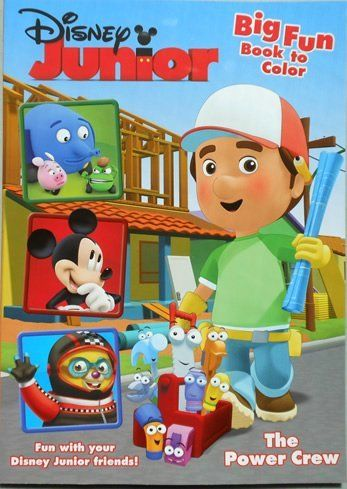 Handy Manny Big Fun Book To Color The Power Crew