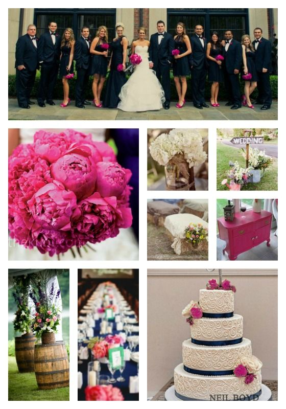 Navy and Raspberry wedding ideas