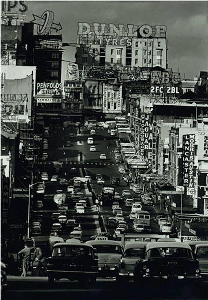 KINGS CROSS PHOTO SERIES #339 J Carter's 1962 snap looking east up William street to Kings Cross.