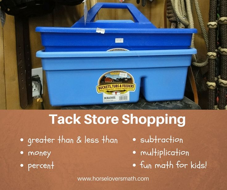 Can you think of a way for horse crazy kids to learn about money, price difference, and % off sales that's more fun than a trip to the tack store? I can't! Do you know a child who would like to join the club? https://www.horseloversmath.com/tackstoreshoppingtrip