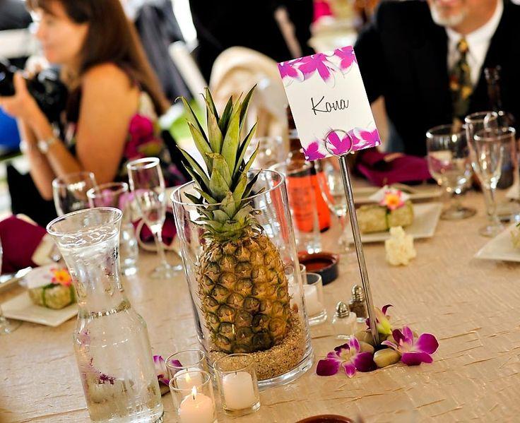 Pineapple centerpiece wedding other ideas