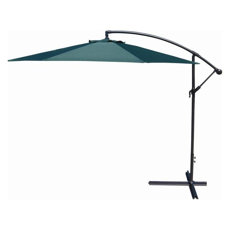 Jordan Manufacturing 10-ft. Offset Umbrella Green - OFST10-GRN