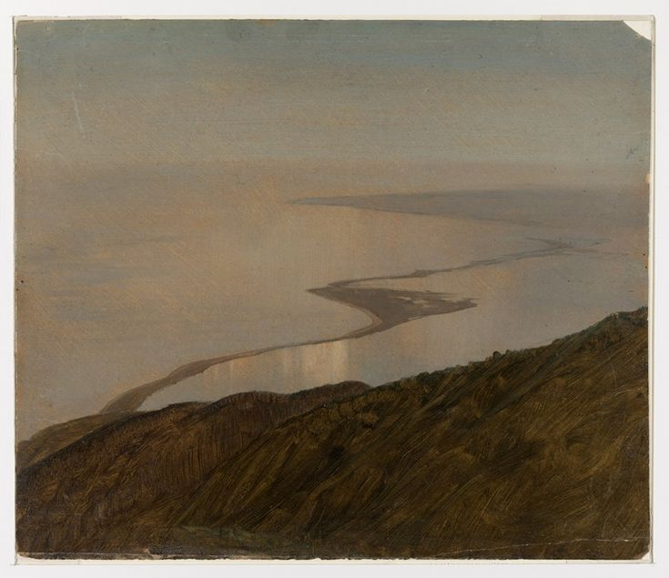 Frederic Edwin Church, 'A Coastline in Jamaica, West Indies', 1865, graphite and oil on paperboard.