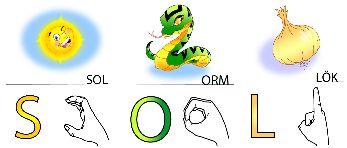 Alfabetsbilder, både stora och små