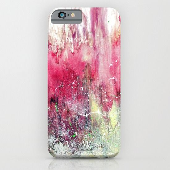 Vibrant pink abstract phone case design for iPhone 6, iPhone 5S/C, iPod Touch, Galaxy s6/s5/s4 | International Shipping | Full collection www.vinnwong.com | Click to Shop or Pin it For Later!