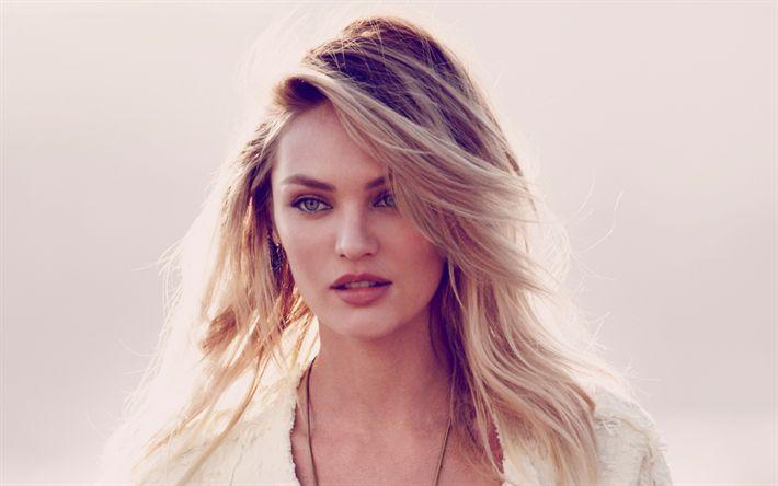 Télécharger fonds d'écran Candice Swanepoel, Portrait, Afrique du Sud, mannequin, blonde