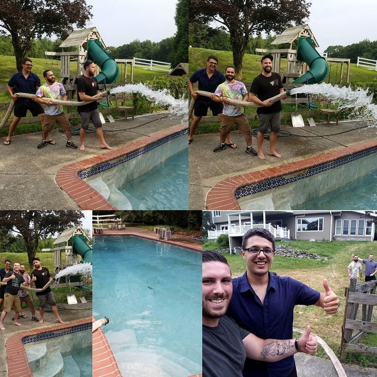 We love to see our customers having fun and this group of guys was no exception. They were happy to help and excited for their pool to be filled after all the hard work they put in. Enjoy fellas Keep the good times coming. Go Water King! Call 1-862-236-3555 #summer #summertime #sunnydays  #beattheheat #cool #clear #water #likeforlike #swimmingpool #swimming #pool #waterdelivery #bulkwater #poolfilling #NJ #truck #trailer #thenamesaysitall #thebest #gowaterking