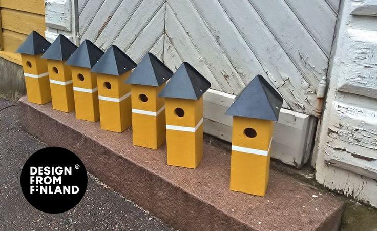 #Linnunpönttö Heinolan seurakunnalle. #Clocktower shaped #birdhouse. Customer: Chuch of #Heinola #Design