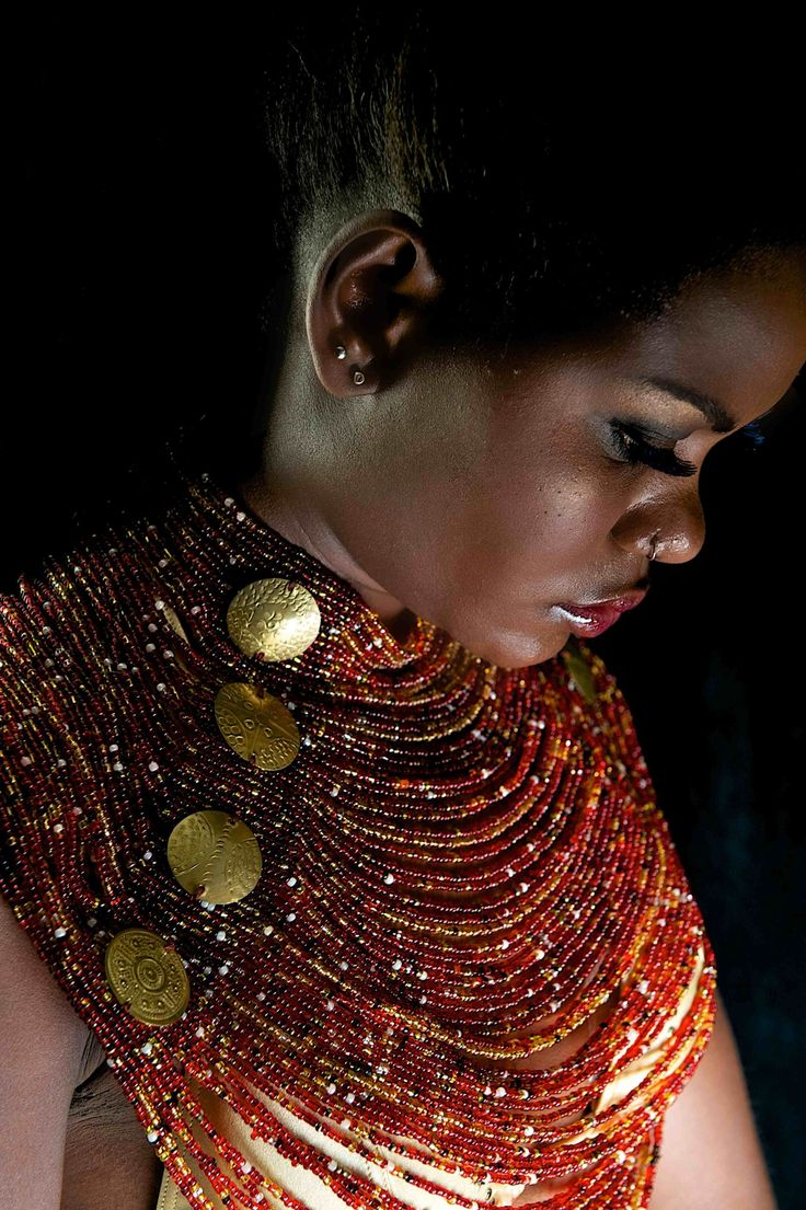 Contemporary African Jewellery, African Fashion, designed by Patricia Mbela of Poisa (Kenya). Photographed by Barbara Minishi, model Sophie and Make up by Suzie Beauty.