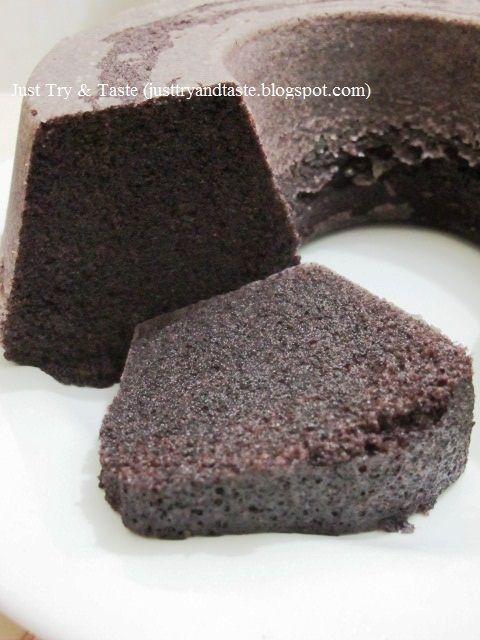 Just Try & Taste: Cake Kukus Ketan Hitam: Si Hitam Manis Nan Sedap