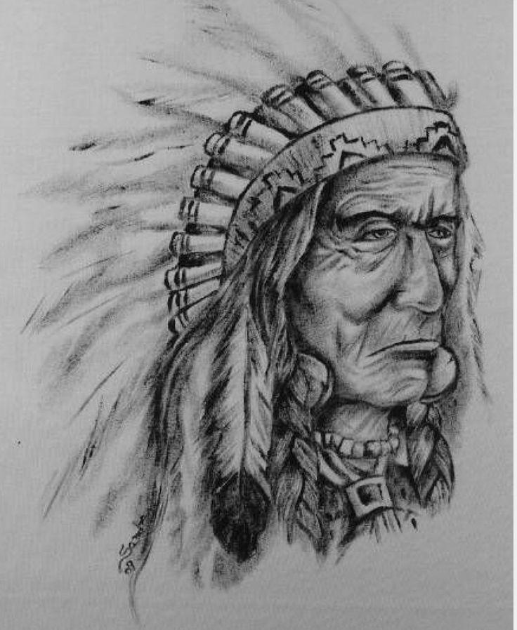 Картинки карандашом индейца