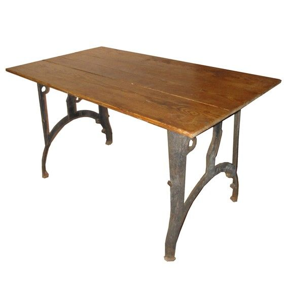 Furniture Dining And Kitchen Tables Farmhouse Industrial: 18 Best Industrial Metal Table Legs/Bases Images On