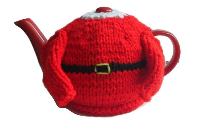 Christmas Tea Cosy, Santa Jumper, Womens Gift, Mens Gift, Tea Lover Gift, Xmas Gift by thekittensmittensuk on Etsy