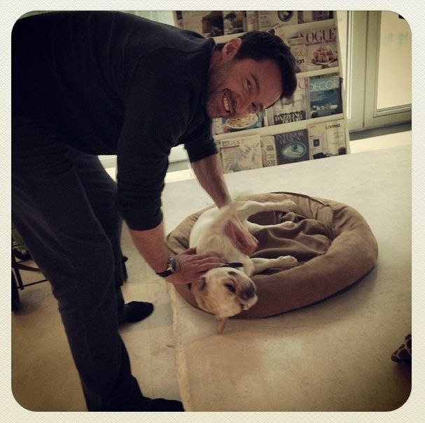 L'acteur Hugh Jackman et son chien Dali
