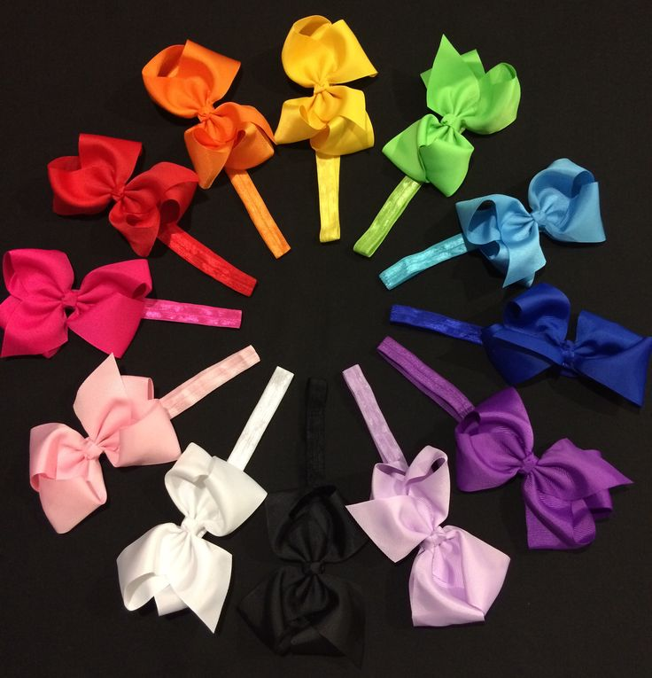 Large coloured baby/toddler headband bows approx 4inch