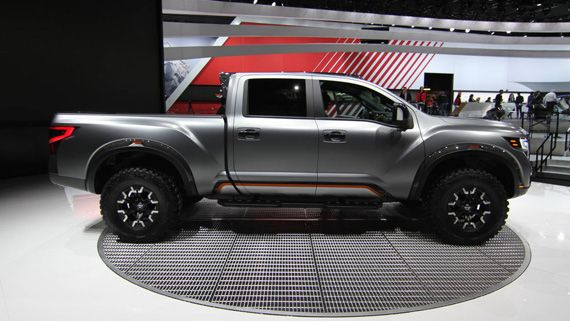 Концепт пикапа Nissan Titan Warrior 2016 / Ниссан Титан Варриор – вид сбоку