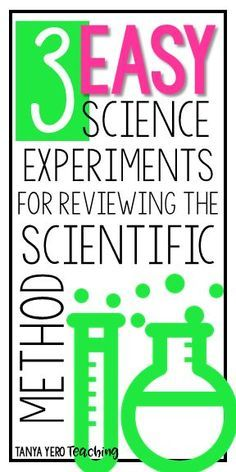 If your elementary class is discussing the scientific method, you'll love these three easy exper…