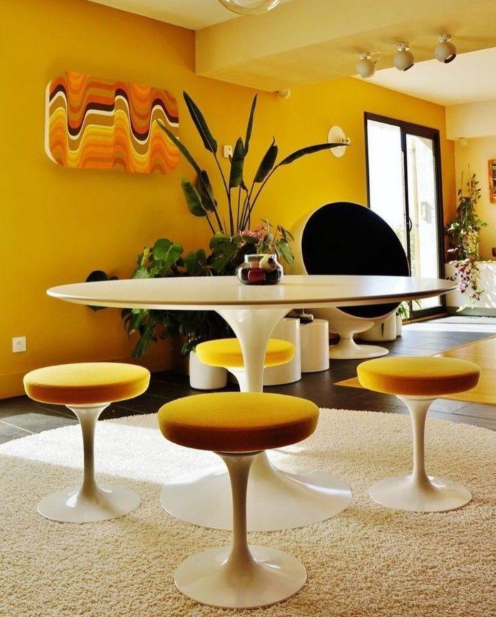 Yellow Cottage, Haus Studio, Feng Shui, Exterieur Design,  Architektur Design, Tulpe, Stühle