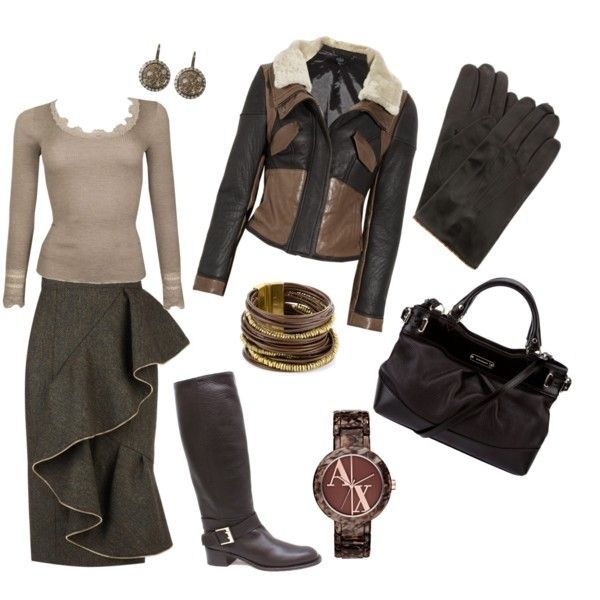 Brown Skirt Outfit <3